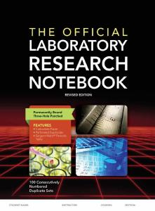 Description: The Official Laboratory Research Notebook (100 Duplicate Sets)