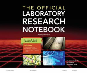 Description: The Official Laboratory Research Notebook (75 Duplicate Sets)