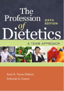 Description: The Profession of Dietetics