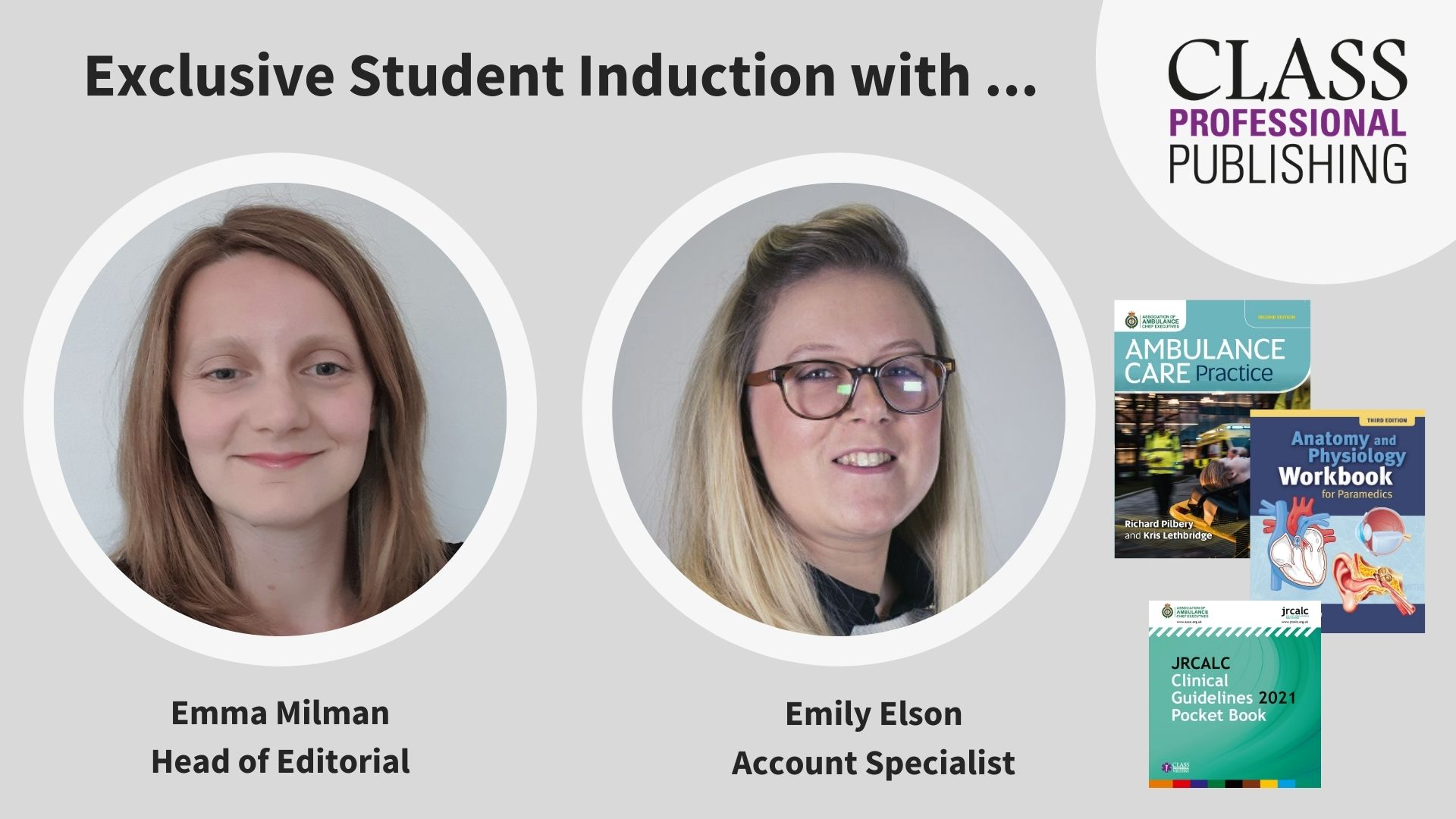 Exclusive Student Induction with Emma & Emily